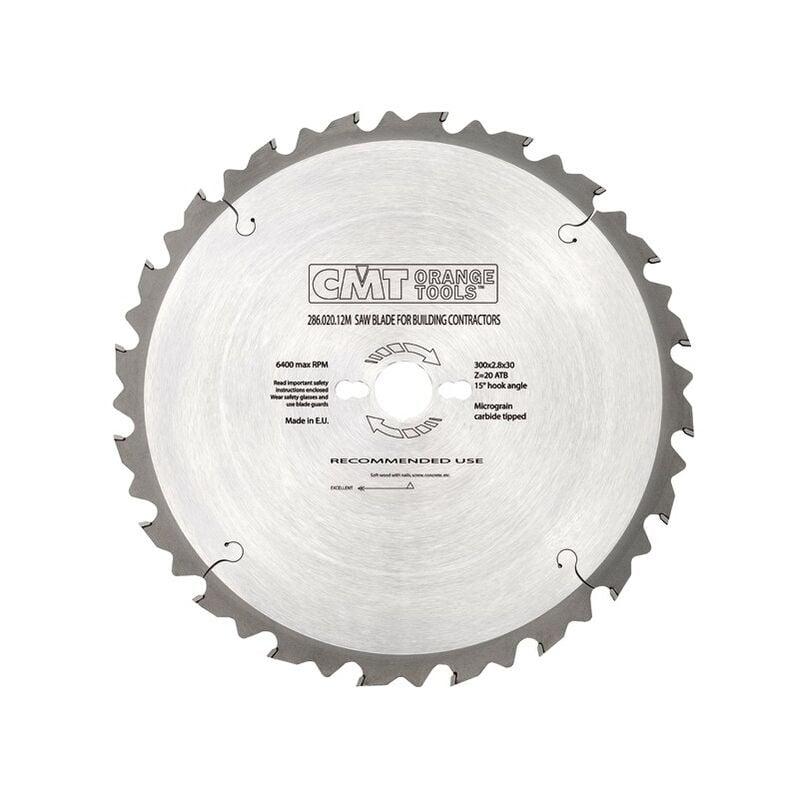 CMT : Lame carbure Contractor 400 mm z= 28 - scie à buches