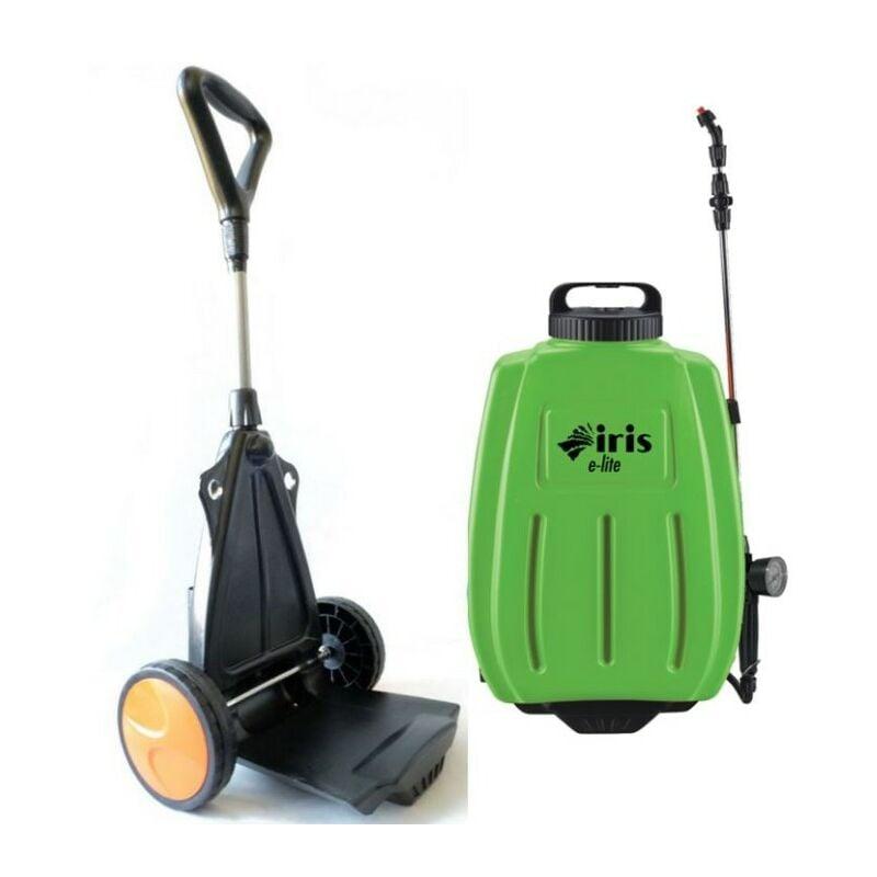 IRIS GARDEN Pulverisateur electrique 16L Batterie Lithium 10Ah Chariot trolley / Bretelles