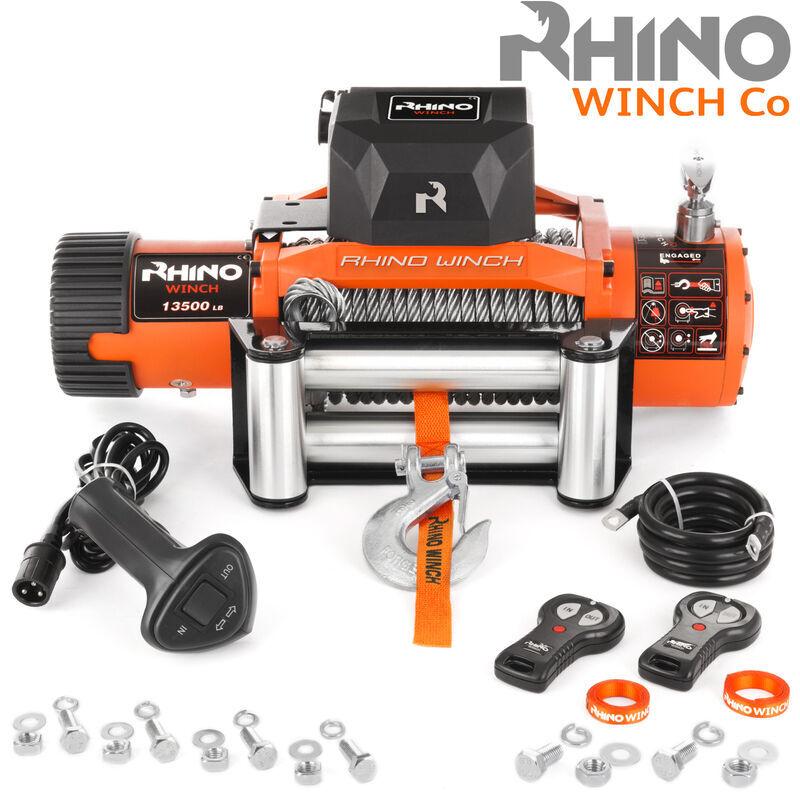 Rhino Winch Rhino - Treuil électrique 13,500lb/6125 kg - 12V - télécommande sans fil