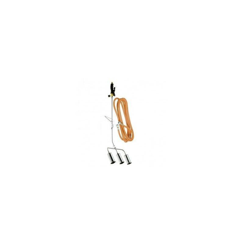 Ribimex - Désherbeur thermique 3 bruleurs Diamètre 45mm + tuyau 5 m BIOPROFLAMME