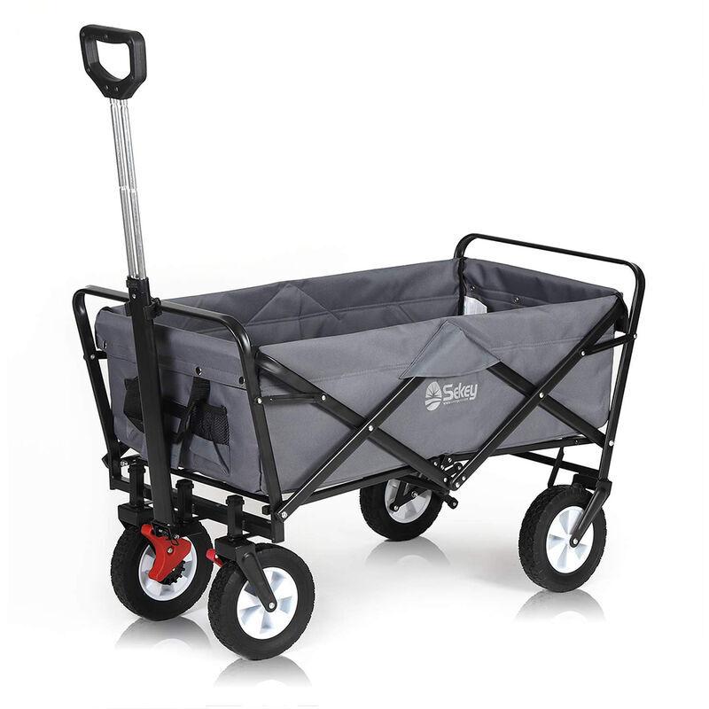 Sekey Chariot de Jardin Pliable avec Freins Charrette à Main Pliant Chariot de