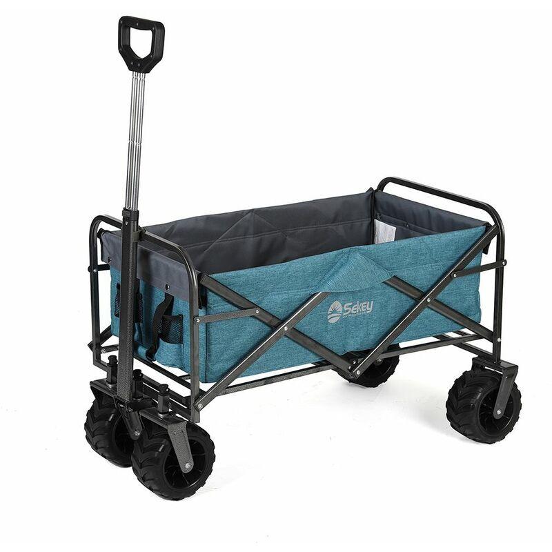 Sekey Chariot de Jardin Pliable Chariot de Transport Charrette Pliable
