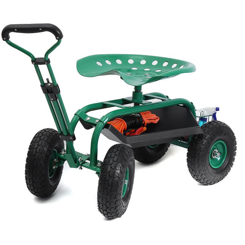Augienb - Siège de jardin sur roues Voiture de jardin chariot de jardin