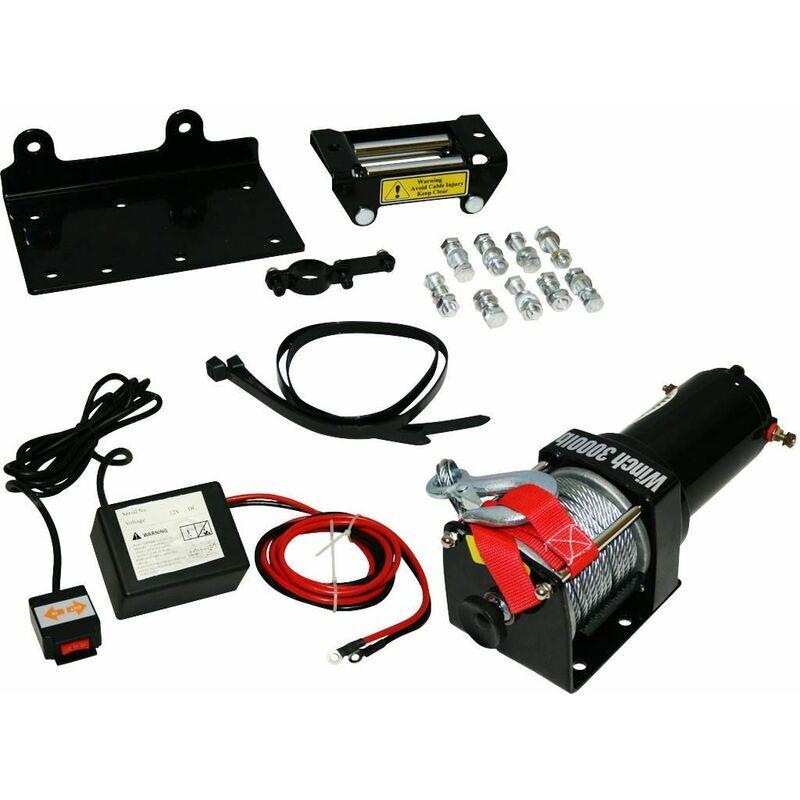 Varan Motors - Var-P3000-1B Treuil électrique 12V 1360Kg / 2720Kg 1000W, Treuil