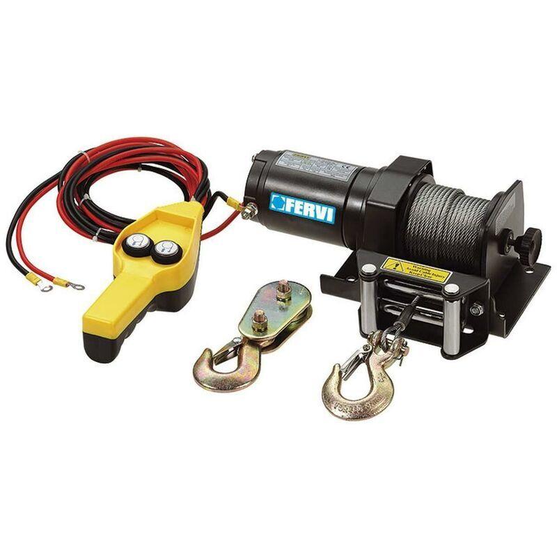 FERVI Treuil Palan Electrique Levage A Cable 12V Fervi 0630/0900