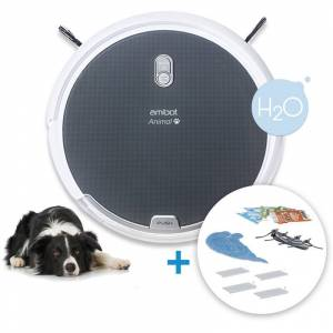 AMIBOT Robot aspirateur et laveur AMIBOT Animal Comfort H2O - Grey - Publicité