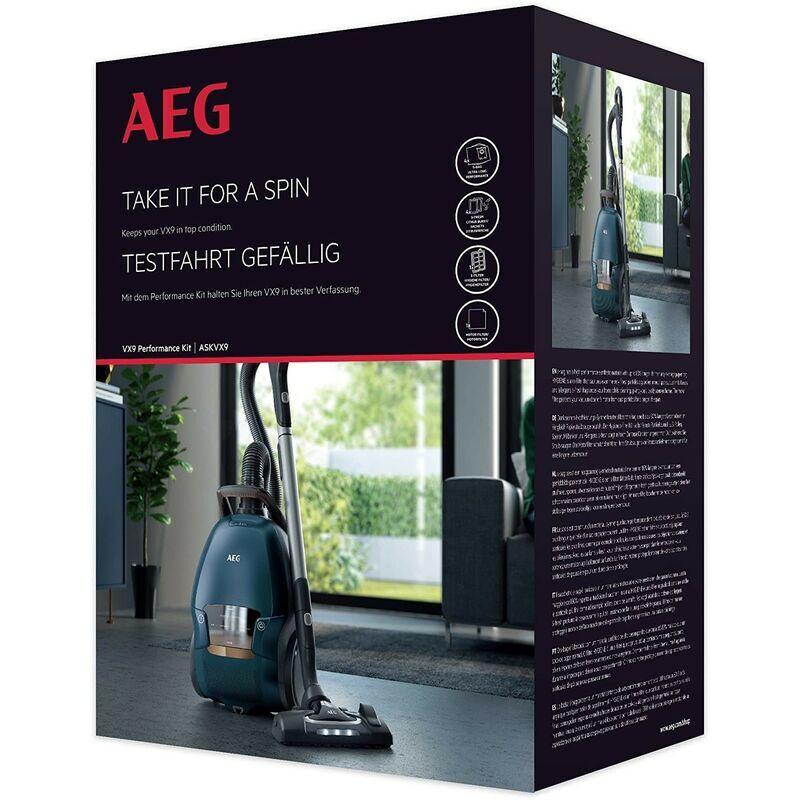AEG - Kit performance & entretien VX9 (4 sacs d'aspirateur, 1 filtre moteur, 1
