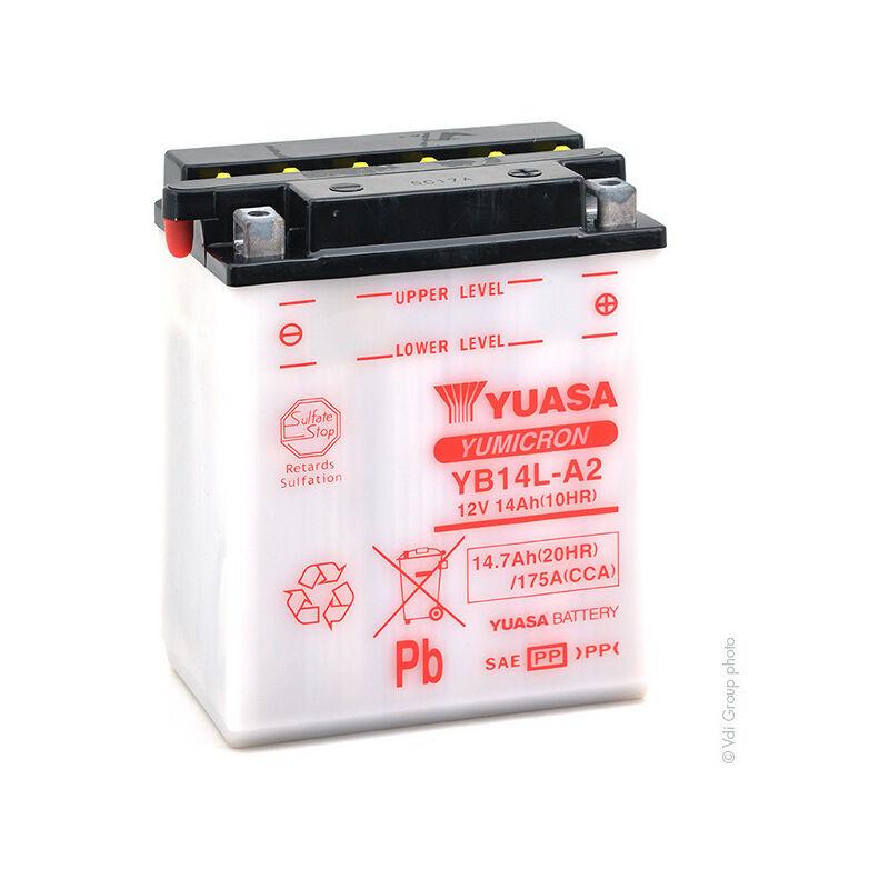 YUASA Batterie moto YB14L-A2 12V 14Ah - Yuasa