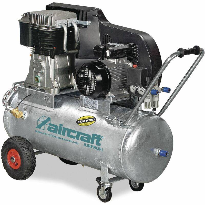 AIRCRAFT Compresseur à courroie huile cuve galvaniée 13 bars 100 l AIRPROFI 703/100/15
