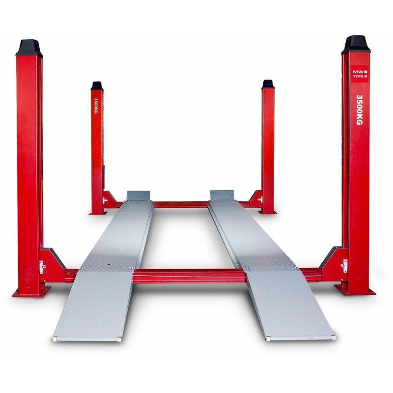 MW-TOOLS Pont élévateur hydraulique 4 colonnes 3,5 t HB435 - Mw-tools