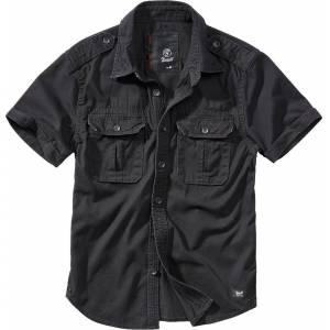 Brandit Vintage Chemise Noir taille : 4XL - Publicité