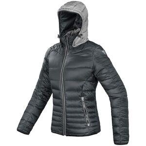 Dainese Courmayeur Down Veste textile de moto de dames Noir Argent taille : M