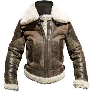 Helstons Spitfire Veste en cuir de moto dames Brun taille : L - Publicité
