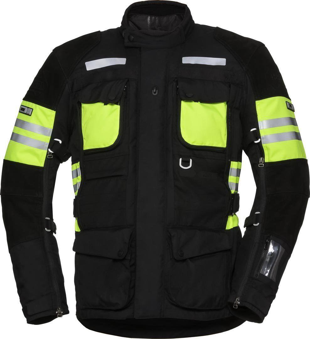 IXS X-Tour LT Montevideo-ST Veste textile de moto imperméable à l'eau Noir Jaune taille : XL