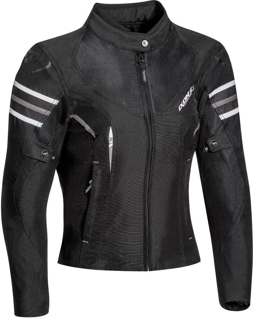Ixon Ilana Veste textile de moto de dames Noir Blanc taille : S