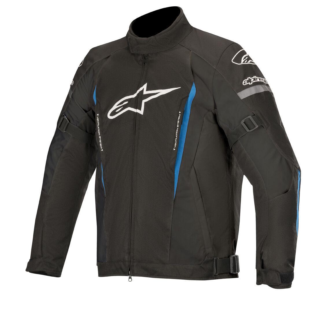 Alpinestars Gunner v2 Veste de Textile imperméable à l'eau Noir Bleu taille : S