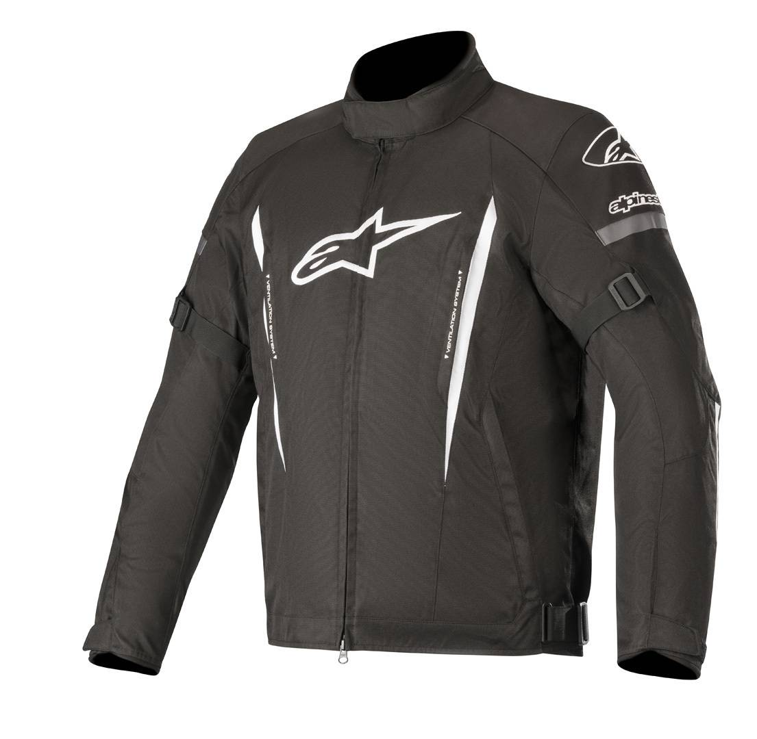 Alpinestars Gunner v2 Veste de Textile imperméable à l'eau Noir Blanc taille : 2XL