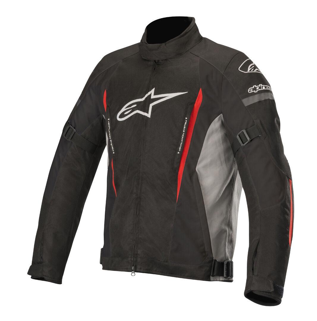 Alpinestars Gunner v2 Veste de Textile imperméable à l'eau Noir Rouge taille : 2XL