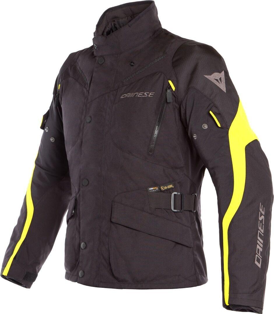 Dainese Tempest 2 D-Dry Veste textile de moto Noir Jaune taille : 52