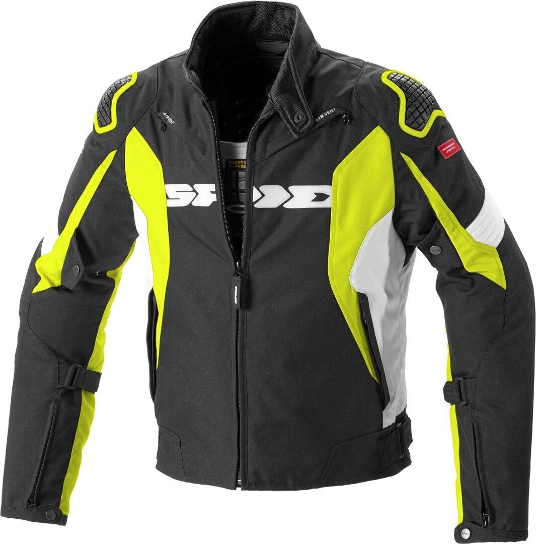 Spidi Sport Warrior H2Out Veste Textile moto Noir Jaune taille : S