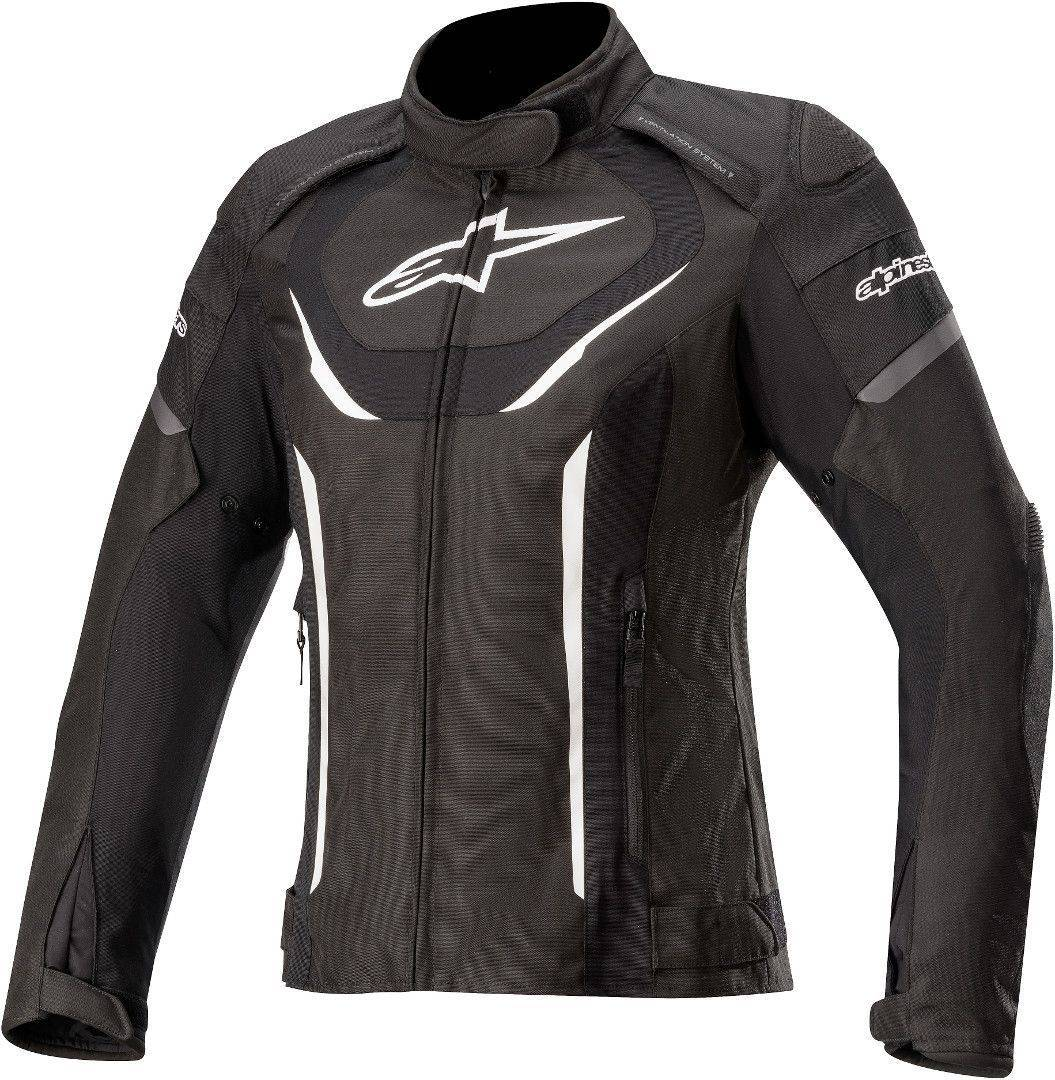 Alpinestars Stella T-Jaws V3 Veste imperméable à l'eau de textile de moto de dames Noir Blanc taille : XL