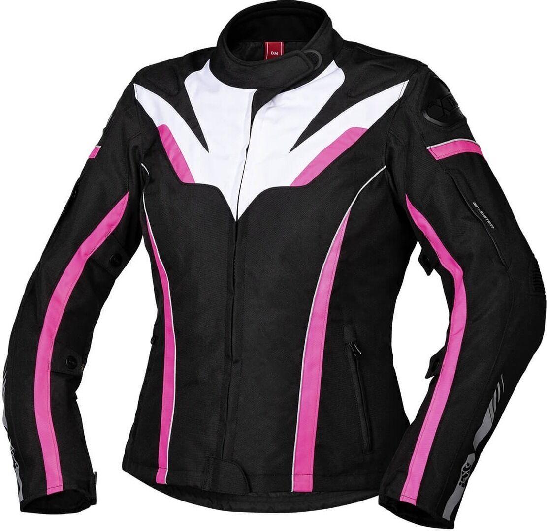 IXS Sport RS-1000-ST Veste textile de moto de dames Noir Blanc Rose taille : M