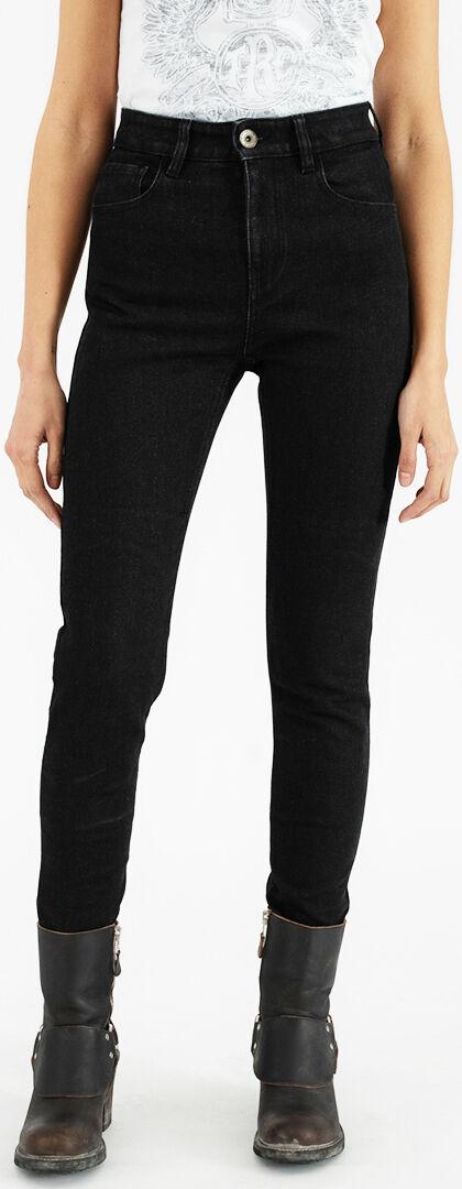 Rokker Rokkertech High Waist Pantalon textile de moto dames Noir taille : 29