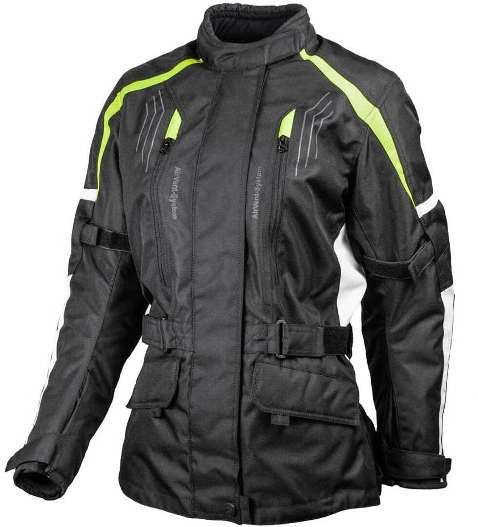 GMS Dayton Veste textile de moto de dames Noir Jaune taille : M