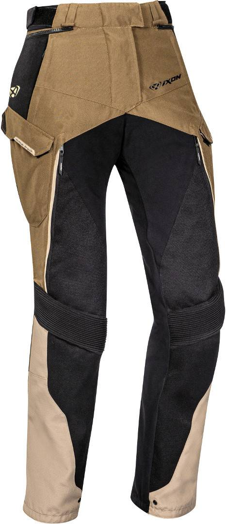 Ixon Eddas Pantalon textile de moto de dames Noir Brun taille : XS