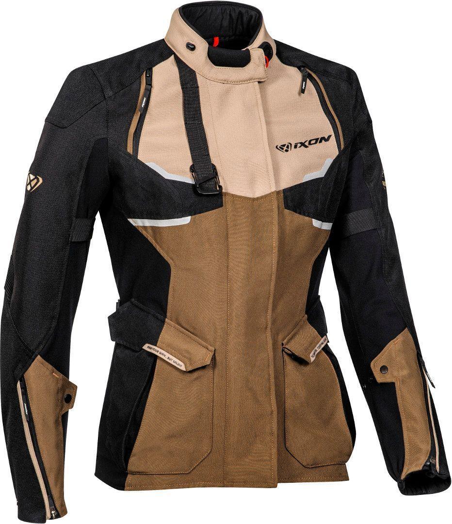 Ixon Eddas Veste textile de moto de dames Noir Brun taille : M