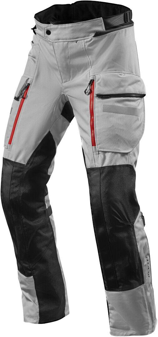 Revit Sand 4 H2O Pantalon textile moto Noir Argent taille : 2XL
