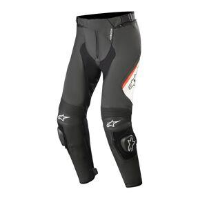 Alpinestars Missile v2 Pantalon en cuir Noir Blanc Rouge taille : 60 - Publicité