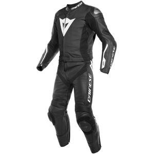 Dainese Avro D-Air® Airbag Combinaison de deux pièces moto cuir Noir Blanc taille : 58 - Publicité