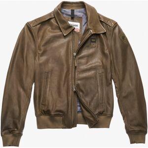 Blauer USA Smith Veste en cuir Vert taille : S - Publicité