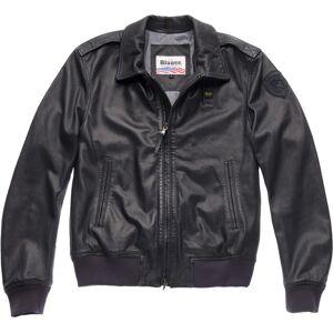 Blauer USA Smith Veste en cuir Noir taille : S - Publicité