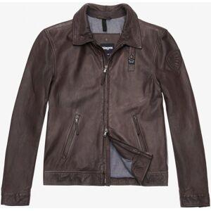 Blauer USA Jackson Veste en cuir Brun taille : S - Publicité