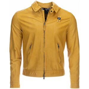 Blauer USA Jackson Veste en cuir Jaune taille : S - Publicité