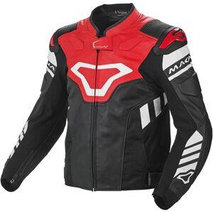 Macna Tracktix Veste en cuir de moto Rouge taille : 46 - Publicité
