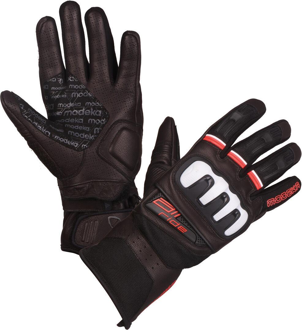 Modeka Air Ride Gants de moto Noir Blanc Rouge taille : 3XL