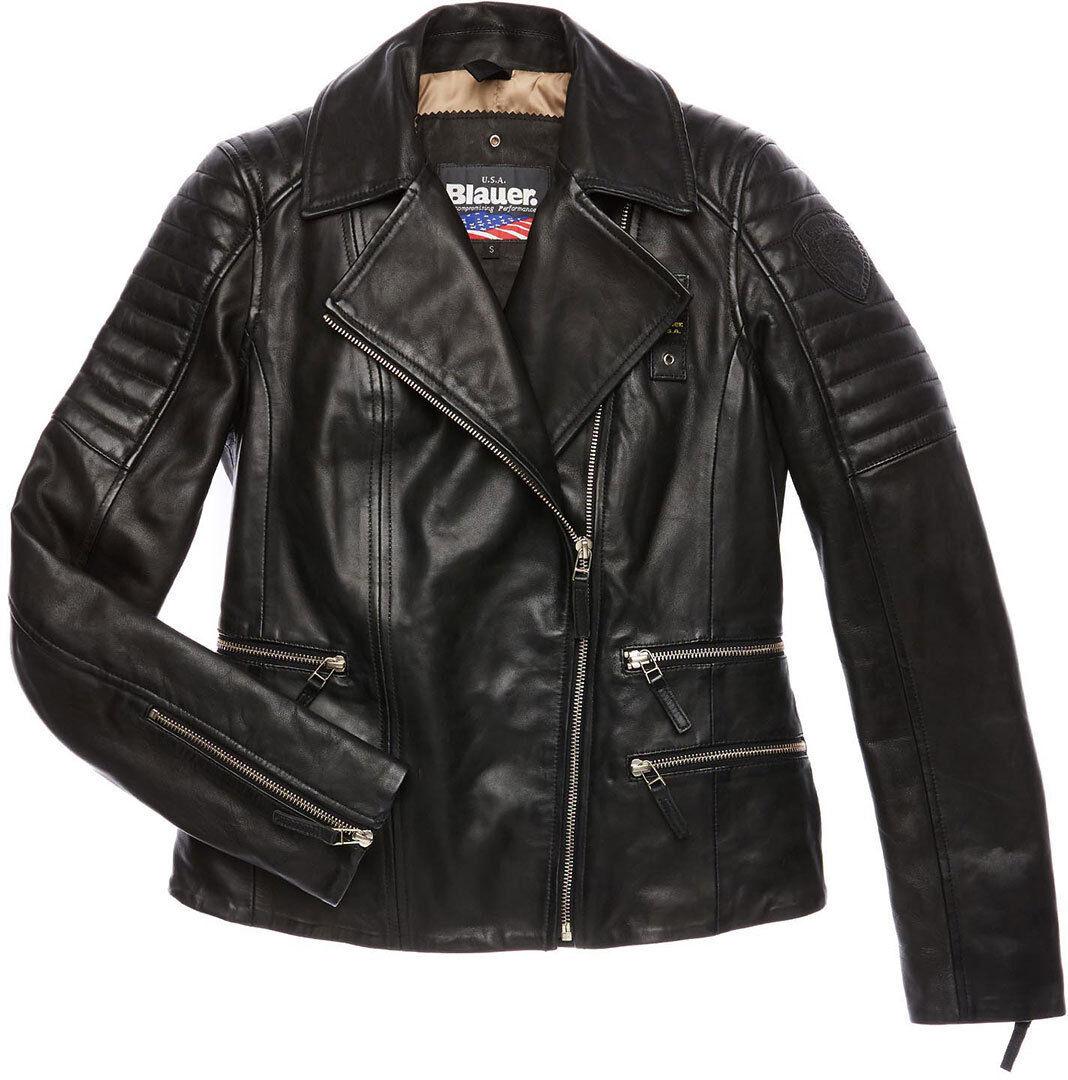 Blauer USA Icon Veste en cuir de dames Noir taille : L