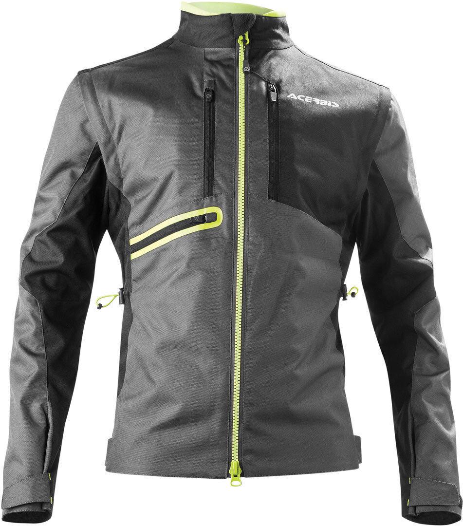 Acerbis Enduro One Motorcycle Textile Jacket Veste textile de moto Noir Jaune taille : 2XL