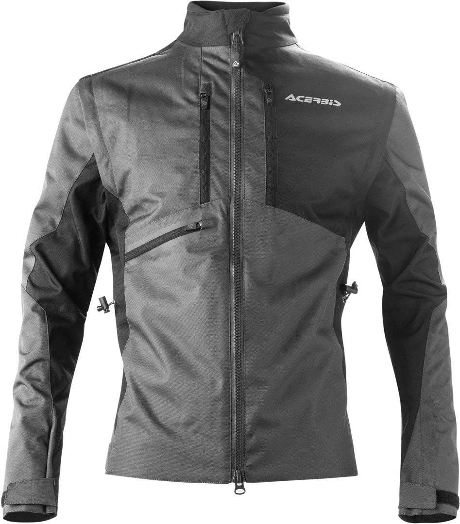 Acerbis Enduro One Motorcycle Textile Jacket Veste textile de moto Noir Gris taille : 3XL