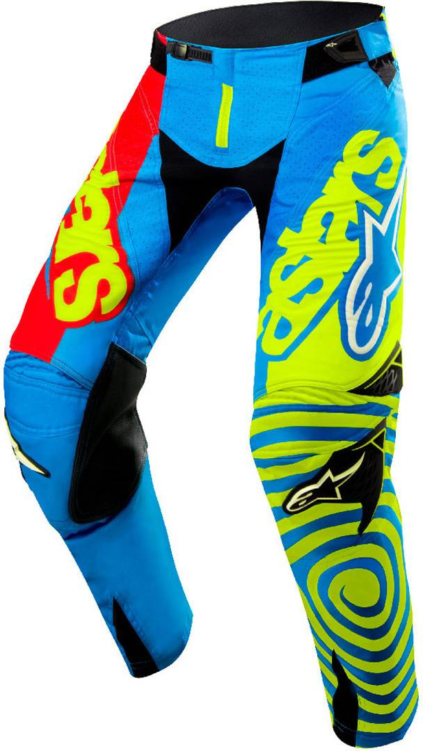 Alpinestars Techstar Venom 2018 Pantalon de motocross Rouge Bleu Jaune taille : 30