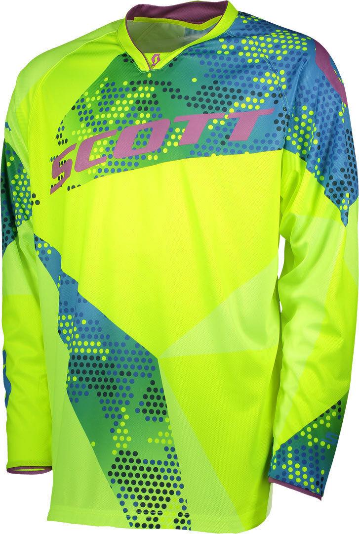Scott 350 Race Maillot motocross 2018 Bleu Jaune taille : L