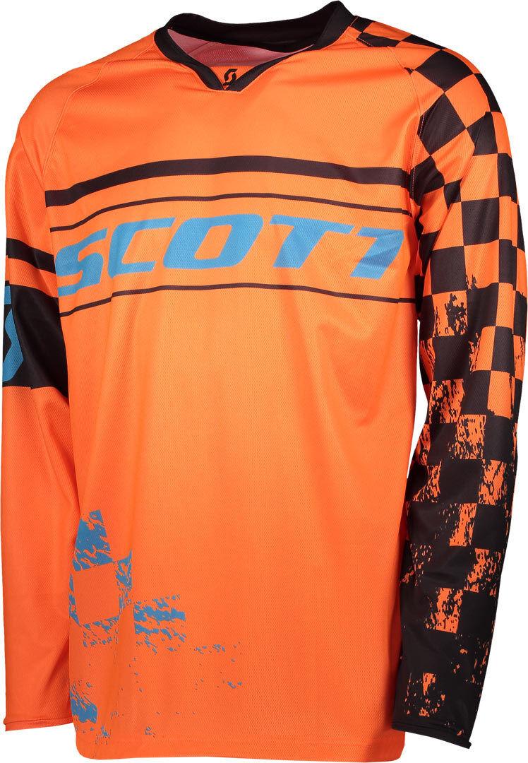 Scott 350 Track Maillot motocross 2018 Bleu Orange taille : L