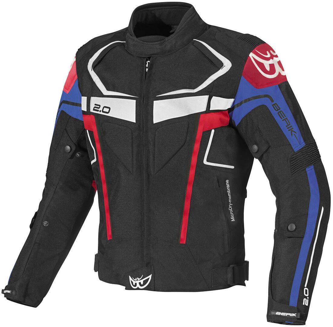 Berik Faith Veste textile de moto imperméable à l'eau Noir Blanc Rouge Bleu taille : 54