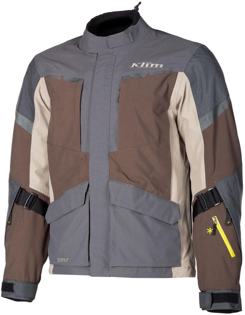 Klim Carlsbad Gore-Tex 2019 Veste textile de moto Gris Beige taille : 2XL