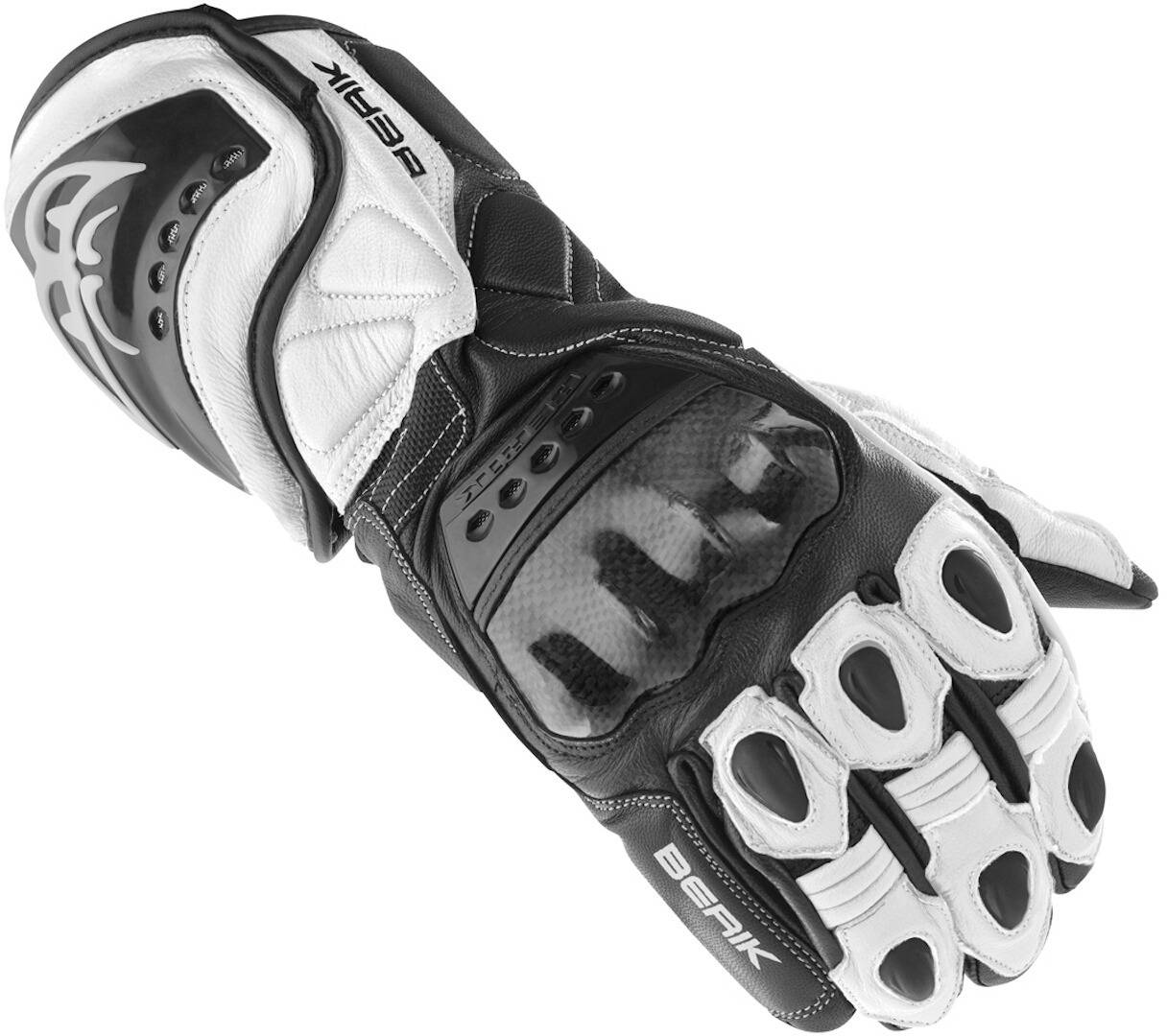 Berik TX-1 Gants de moto Noir Blanc taille : 2XL