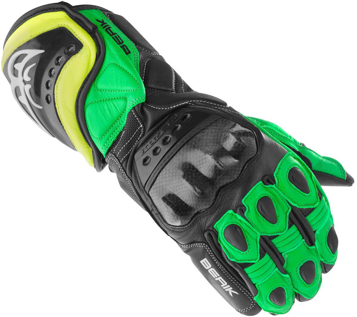 Berik TX-1 Gants de moto Noir Vert taille : S