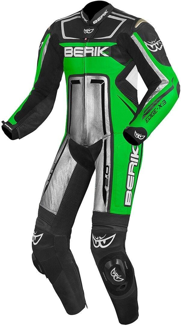 Berik Cosmic Costume en cuir de moto d'une pièce Noir Blanc Vert taille : 48